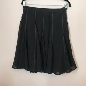 Club Monaco satin trim skirt